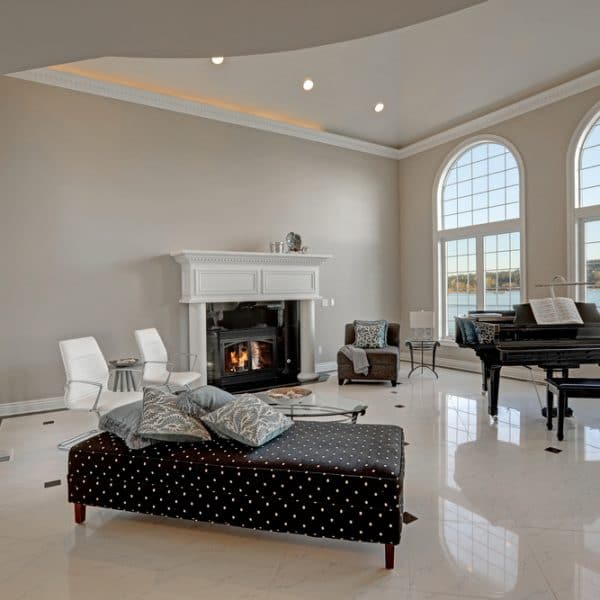 how often to polish marble floor