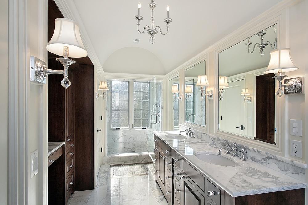 soap scum marble shower